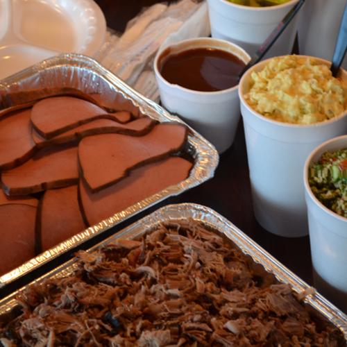 catering, bar-b-q, pulled pork, bologna, potato salad