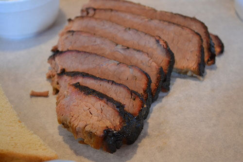 beef brisket, smoked meat, dinner, bar-b-q, Albert G's