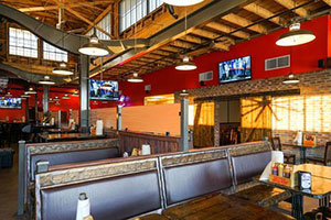 restaurant, Albert G's Downtown, seating, bar-b-q, interior
