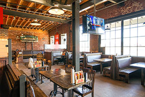 bar-b-q, interior, seating, restaurant, Albert G's Downtown